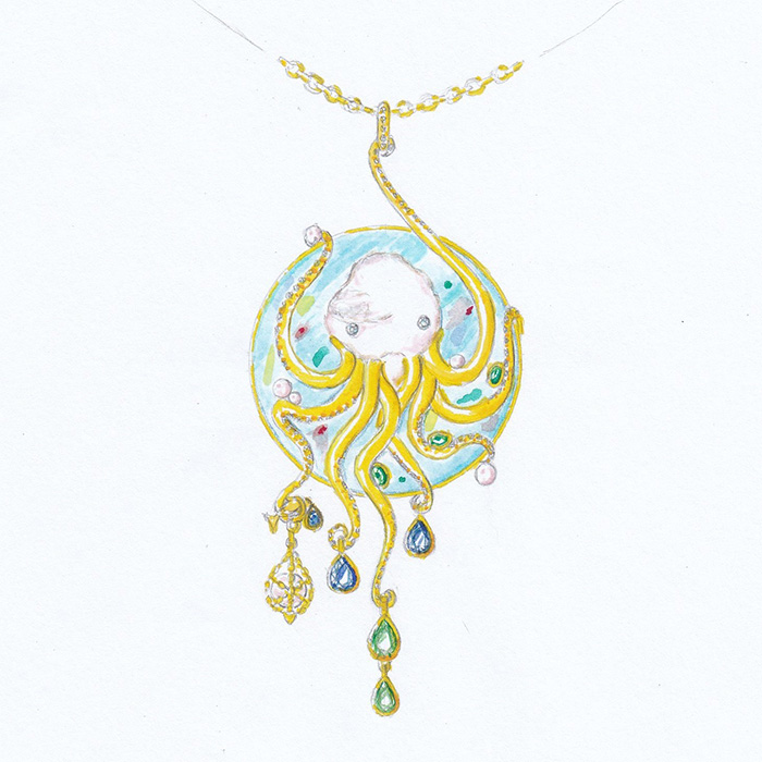 "MC FARLANE Esther<br>Collier ""Octopus"""