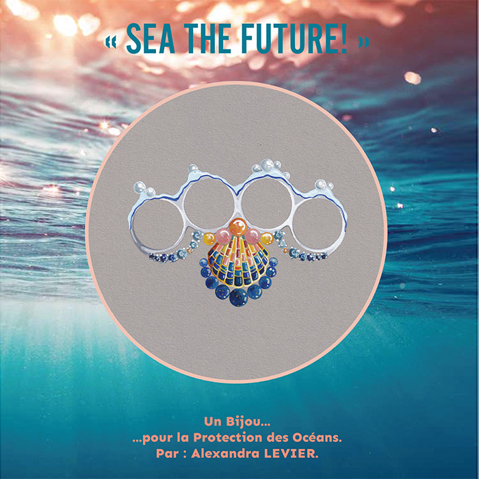 "LEVIER Alexandra<br>Bague ""Sea The Future"""