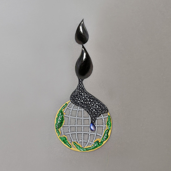 "NIE Xinyu<br>Pendentif ""Offshore oil pollution"""